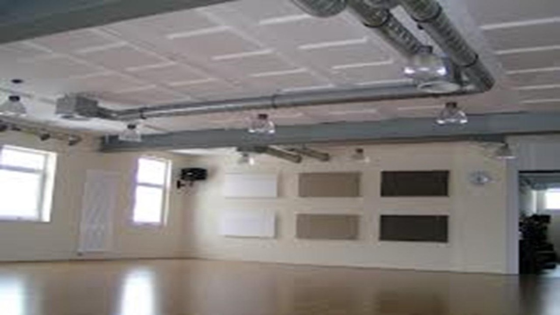 Acoustic panels keeping gyms quiet