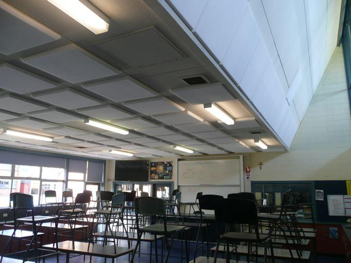 Classroom with Sound Absorption Panels