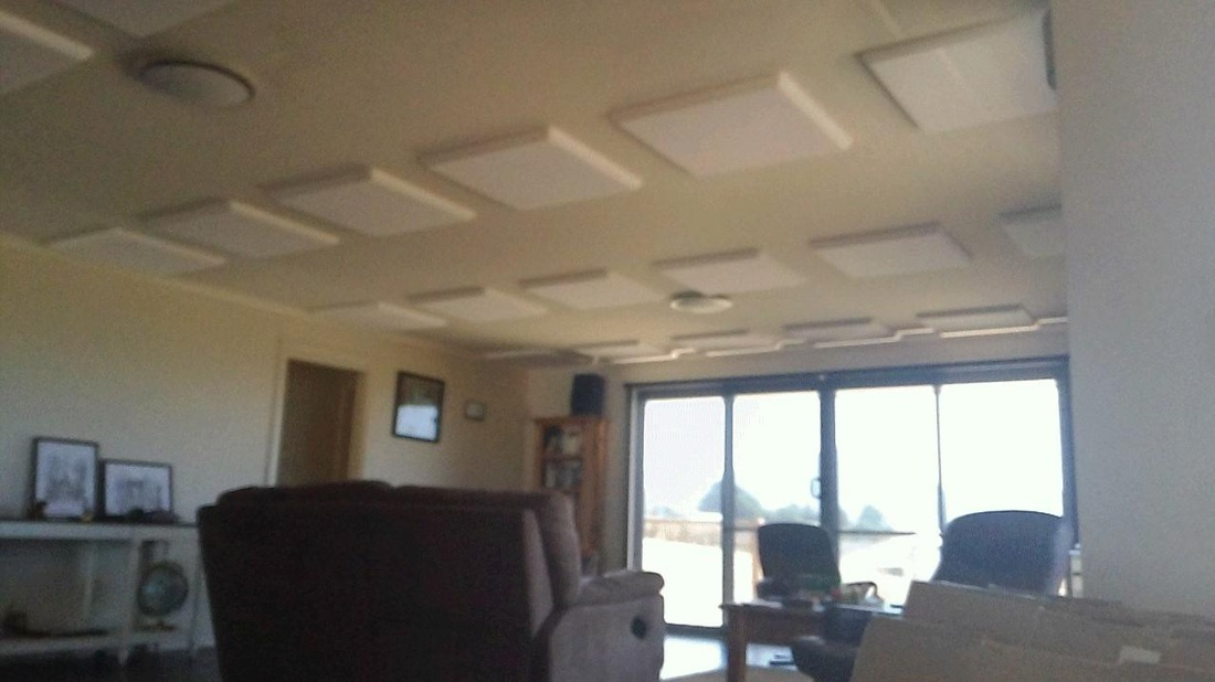Acoustic panels keeping rooms quiet